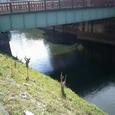 11 朝日橋の橋下